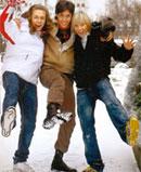 """Марк Тишман (в центре) занял второе место на """"Фабрике звезд-7"""", а Влад Соколовский (слева) и Дима Бикбаев (справа) будут петь в группе """"БиС"""". На эту троицу продюсеры возлагают большие надежды"""