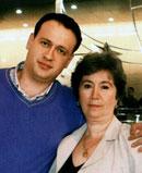 Мама Изольда Михайловна и брат Михаил